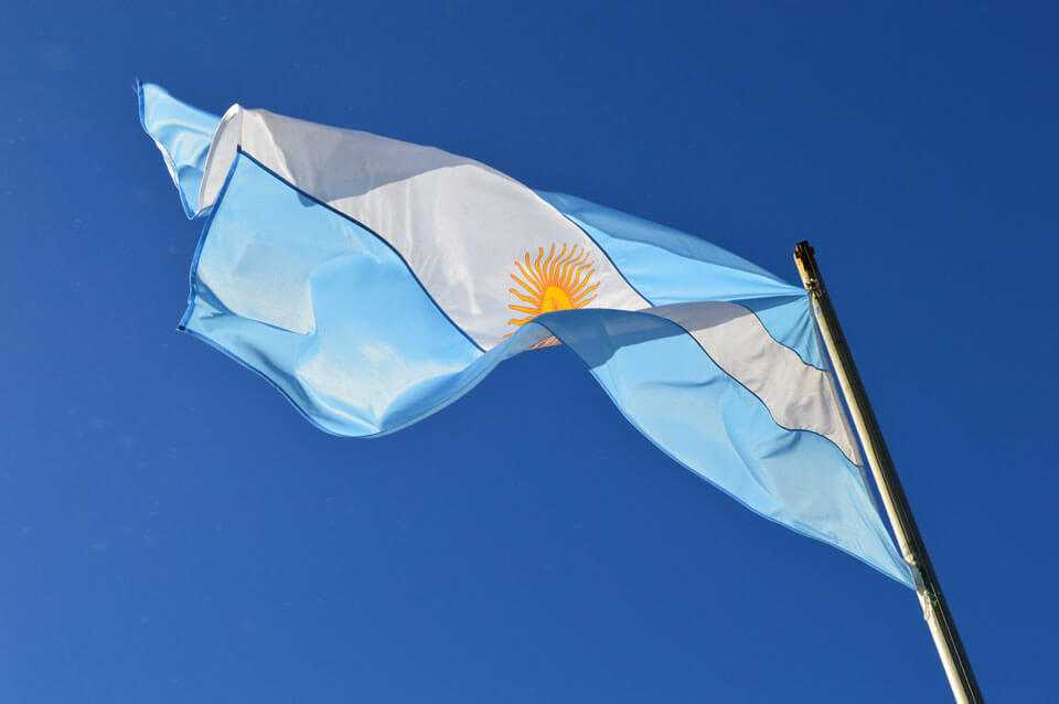 The Argentine flag in Iguazú